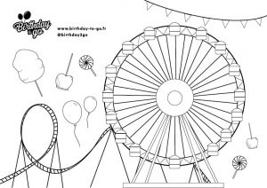 coloriage fête foraine birthday to go